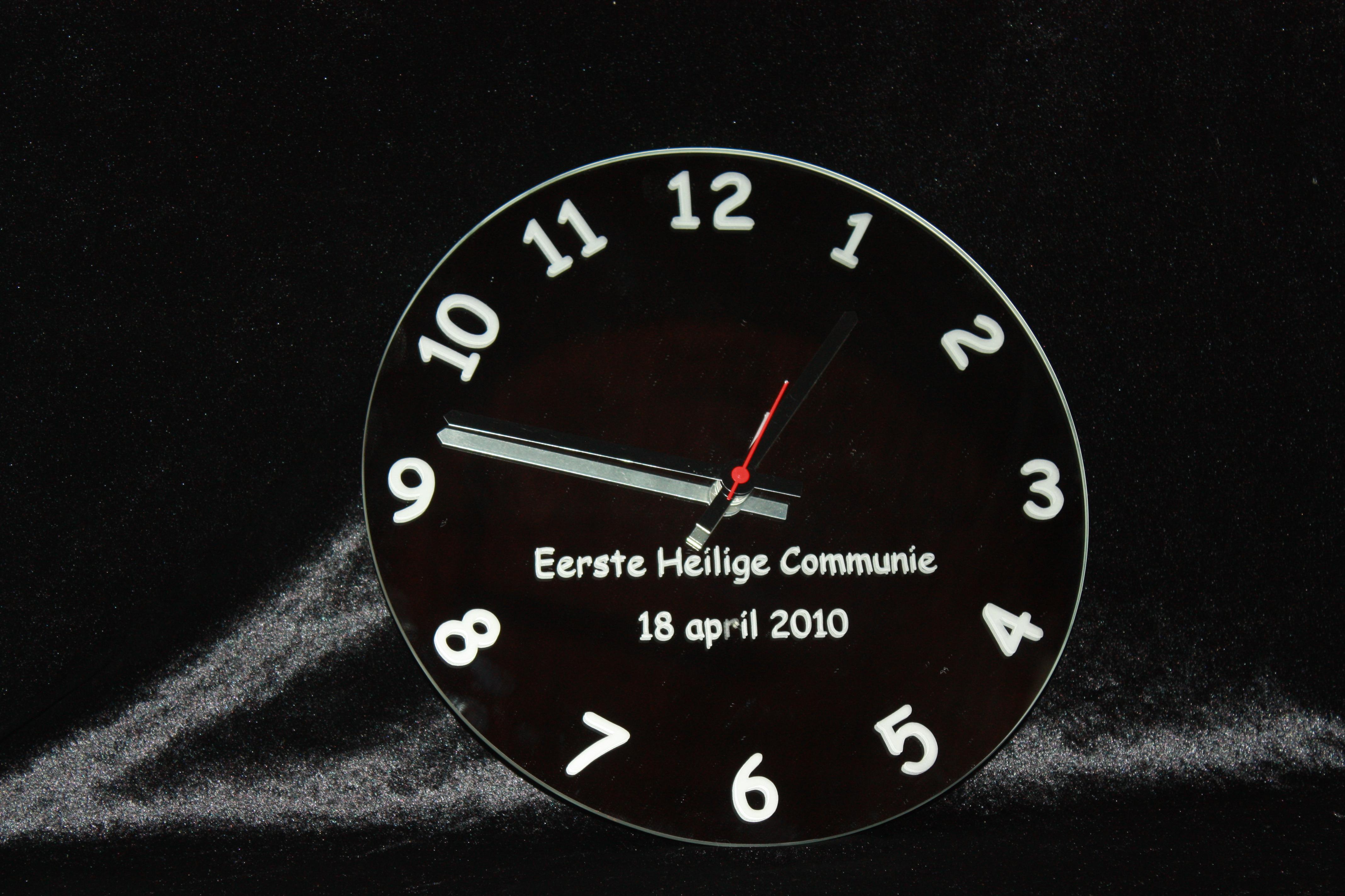 Spiegel Uhr-um-Gravur-persönliche-Nachricht