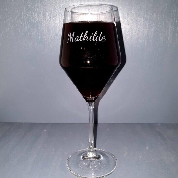 Kristallgravur-Weinglas-Name