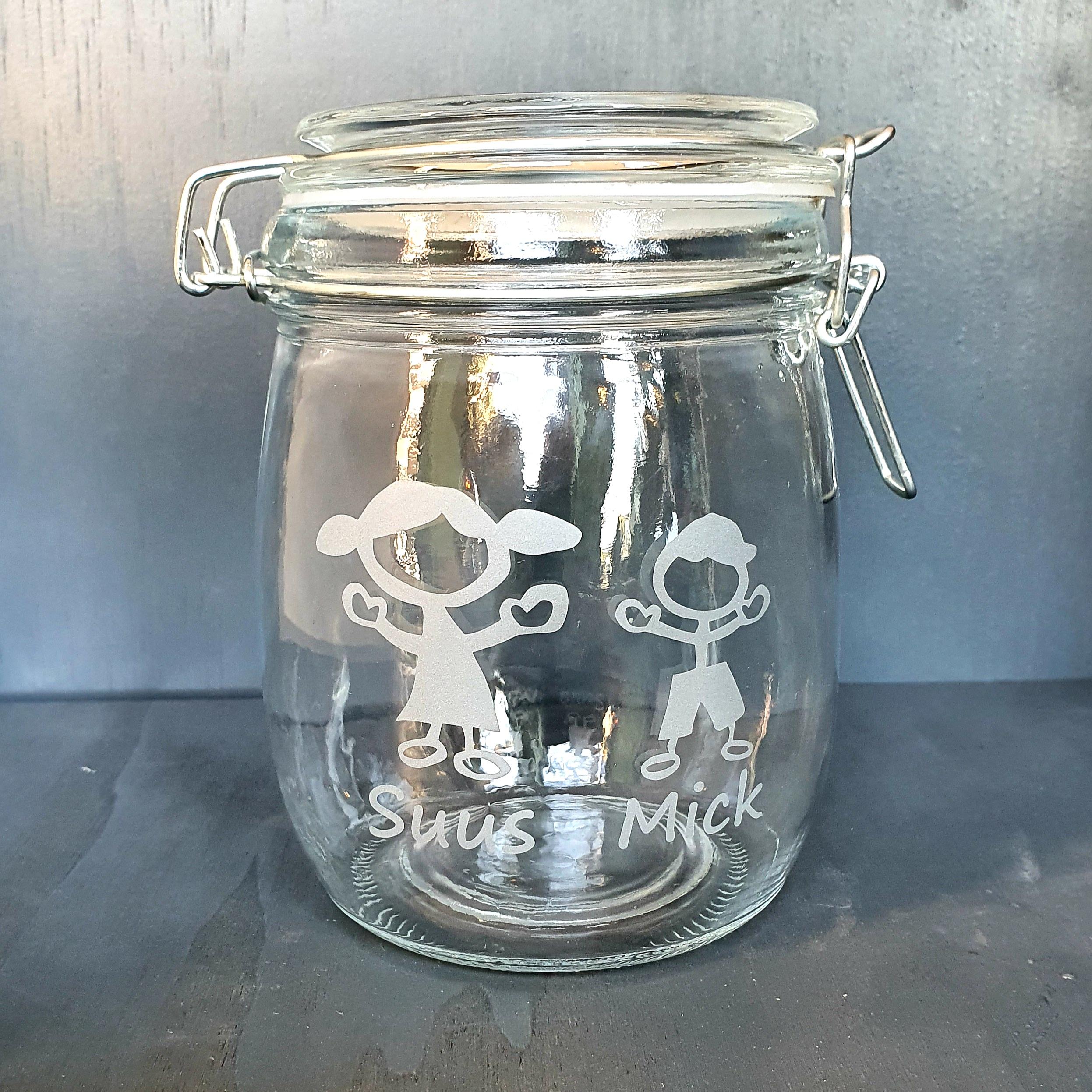 snoeppot- kindertekening-geboortegeschenk