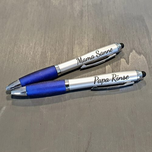 pen met naam gegraveerd