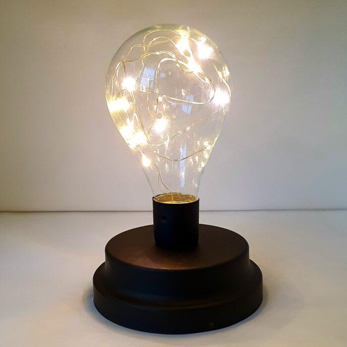 lampje-glas-zwarte-voet-batterij