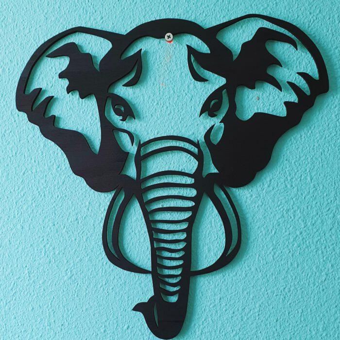 muurdecoratie olifant