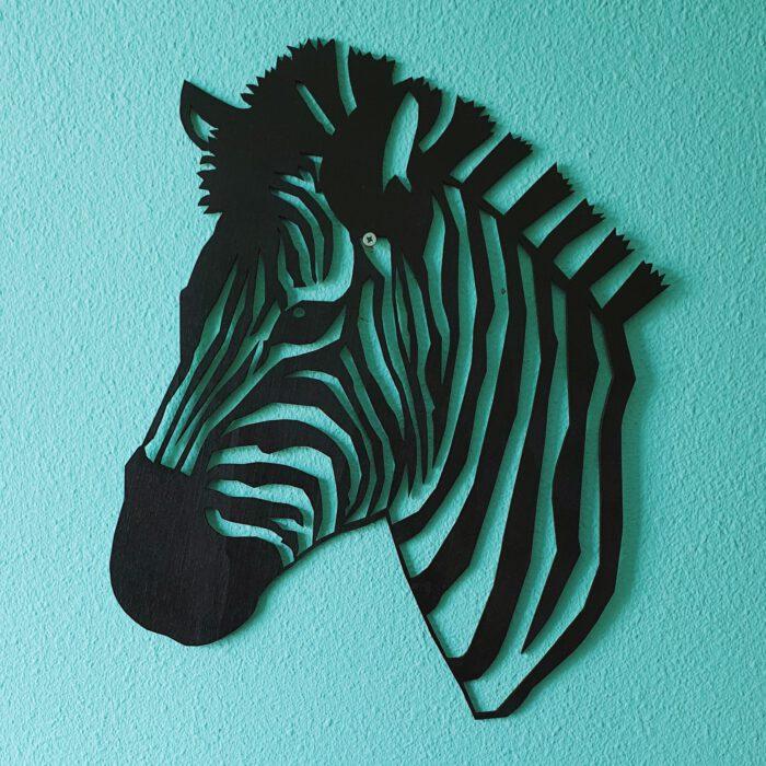 muurdecoratie zebra