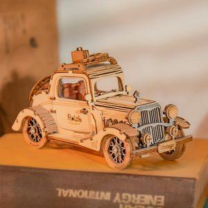 3D-houten puzzel- vintage-car